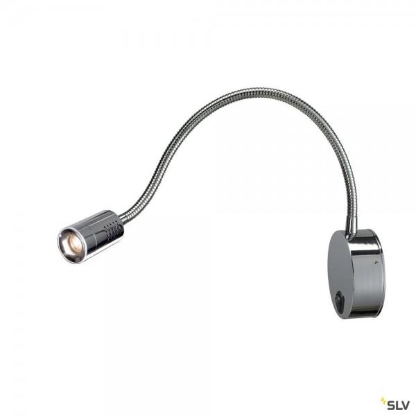 SLV 146682 Dio Flex Plate, Displayleuchte, chrom, mit Schalter, LED, 1,9W, 3000K, 82lm