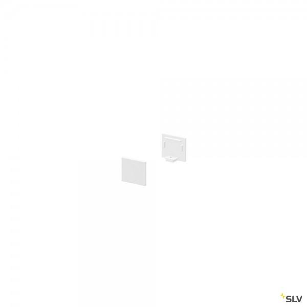 SLV 1000479 Grazia 10, Endkappen, weiß, flach, 2 Stück