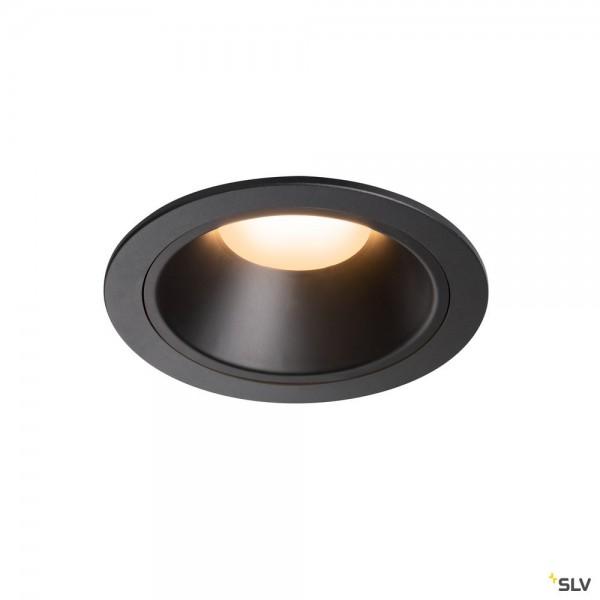 SLV 1003988 Numinos XL, Deckeneinbauleuchte, schwarz, LED, 37,4W, 2700K, 3300lm, 40°