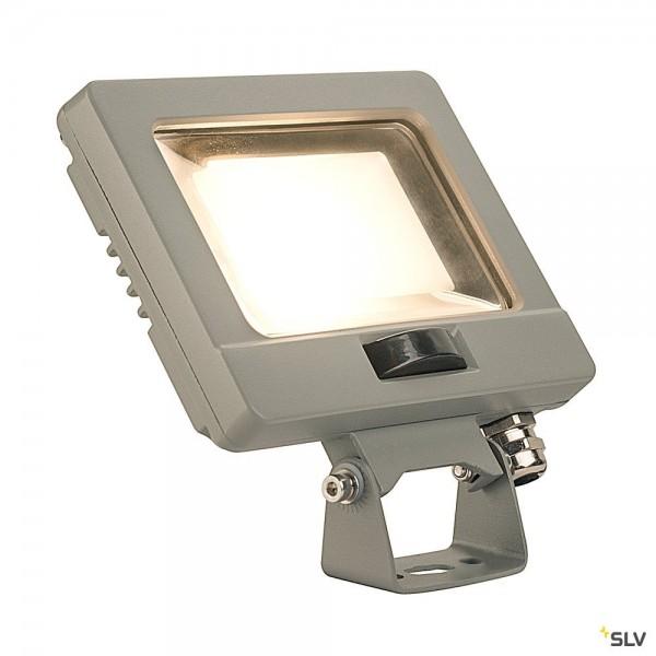 SLV 232864 Spoodi Sensor, Strahler, silbergrau, mit Netzstecker, IP65, LED, 11W, 3000K, 800lm