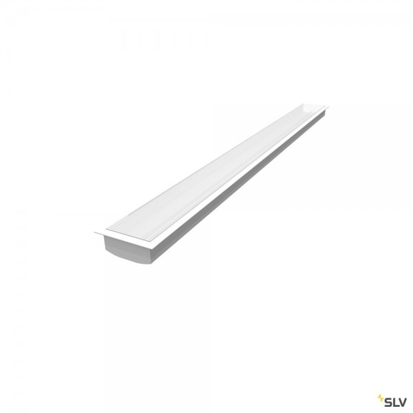 SLV 1004908 Grazia 60, Einbauprofil, weiß, B/H/L 8,6x3,3x300cm, LED Strips max.B.2cm