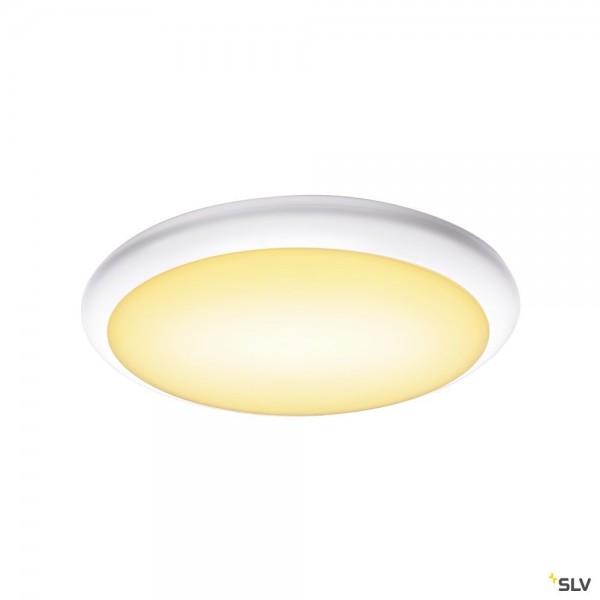 SLV 1001913 Ruba 16 Sensor, Wand- und Deckenleuchte, weiß, IP65, LED, 13W, 3000K/4000K, 2230lm