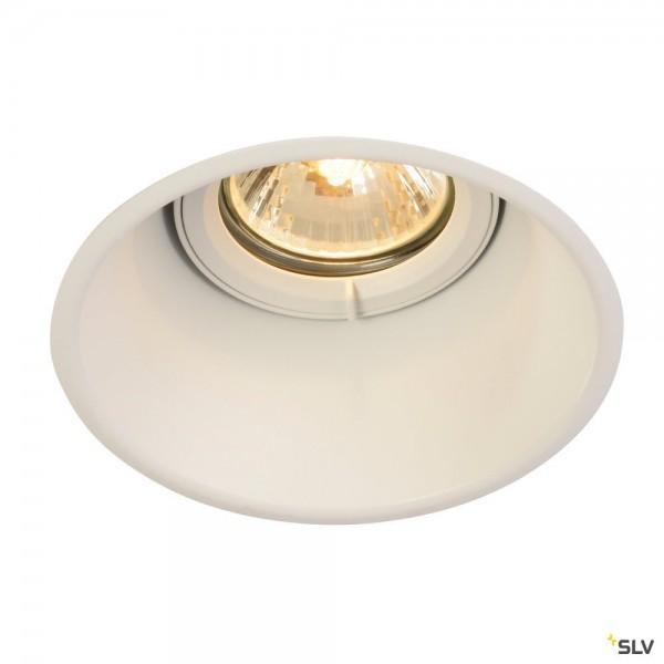 SLV 113141 Horn-T, Deckeneinbauleuchte, weiß matt, QPAR51, GU10, max.50W
