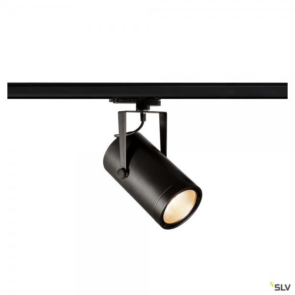 SLV 1002809 Euro Spot, 3Phasen, Strahler, schwarz, dimmbar Dali, LED, 42W, 3000K, 2900lm, 15°