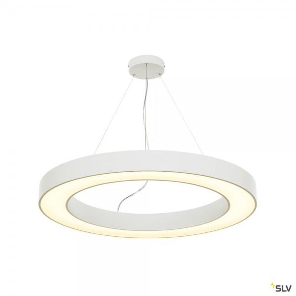 SLV 133851 Medo Ring 90, Pendelleuchte, weiß, dimmbar 1-10V, LED, 58W, 3000K, 4185lm