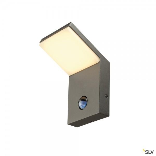 SLV 232915 Ordi Sensor, Wandleuchte, anthrazit, IP44, LED, 9W, 3000K, 500lm