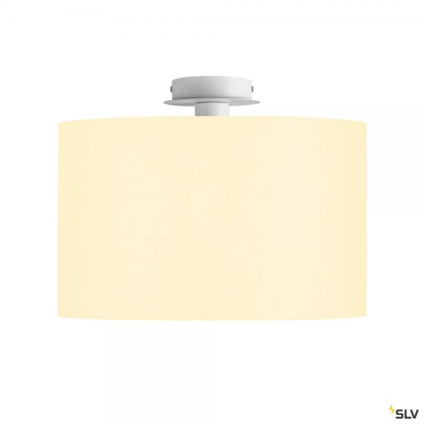 SLV 155551 + 156111 Fenda, Deckenleuchte, weiß, Ø45,5cm, E27, max.60W