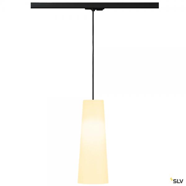 SLV 143120 + 132660 + 156201 Fenda, 1 Phasen, Pendelleuchte, schwarz/weiß, Ø15cm, E27, max.60W