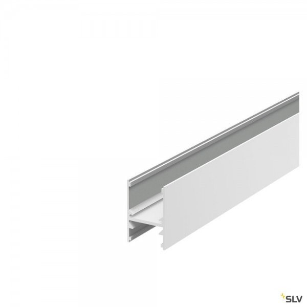 SLV 1001816 H-Profil 2741, Aufbauprofil, weiß, B/H/L 2,7x4,1x200cm, LED Strips max.B.1,6cm