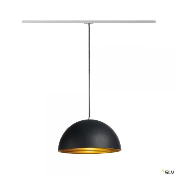 SLV 143930 Forchini M, 1 Phasen, Pendelleuchte, schwarz/gold, E27, max.40W