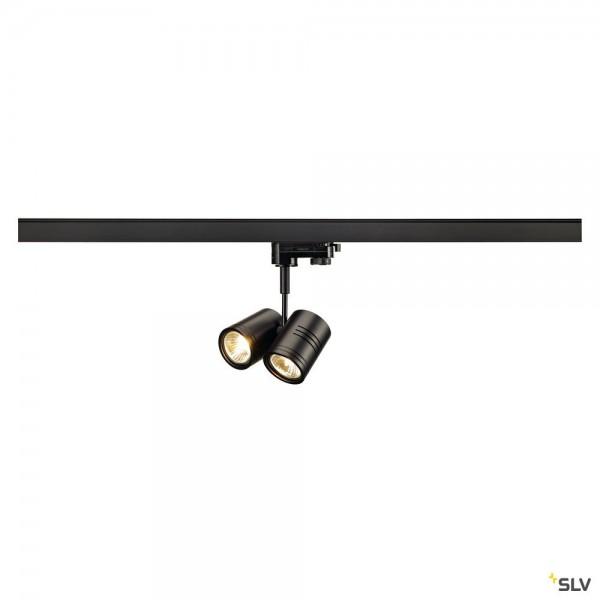 SLV 152230 Bima 2, 3Phasen, Strahler, schwarz matt, QPAR51, GU10, max.2x50W
