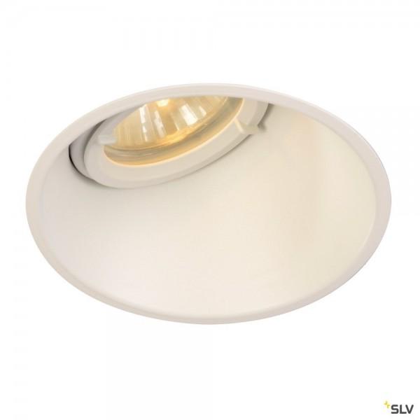 SLV 113151 Horn-A, Deckeneinbauleuchte, weiß matt, IP21, QPAR51, GU10, max.50W