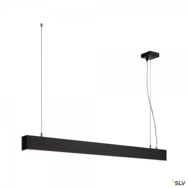 SLV 1001403 Glenos, Pendelleuchte, schwarz matt, dimmbar 1-10V, LED, 43W, 4000K, 3300lm