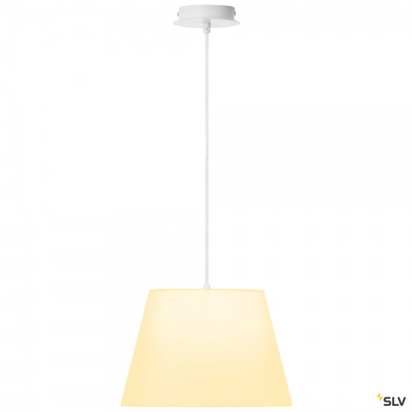 SLV 155561 + 156161 Fenda, Pendelleuchte, weiß, Ø30cm, E27, max.60W