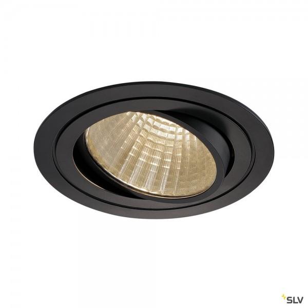 SLV 114270 New Tria 1 Set, Einbauleuchte, schwarz, dimmbar 1-10V, LED, 29W, 3000K, 2425lm