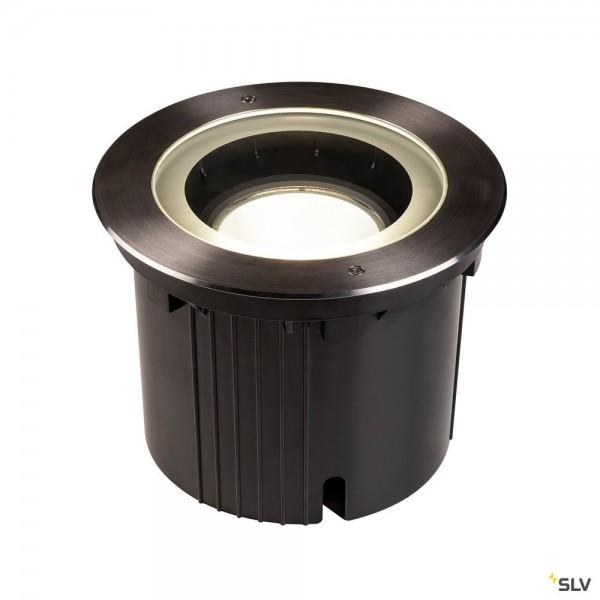SLV 1002898 Dasar 270, Bodeneinbauleuchte, schwarz/edelstahl geb., IP65, LED, 30W, 4000K, 2600lm