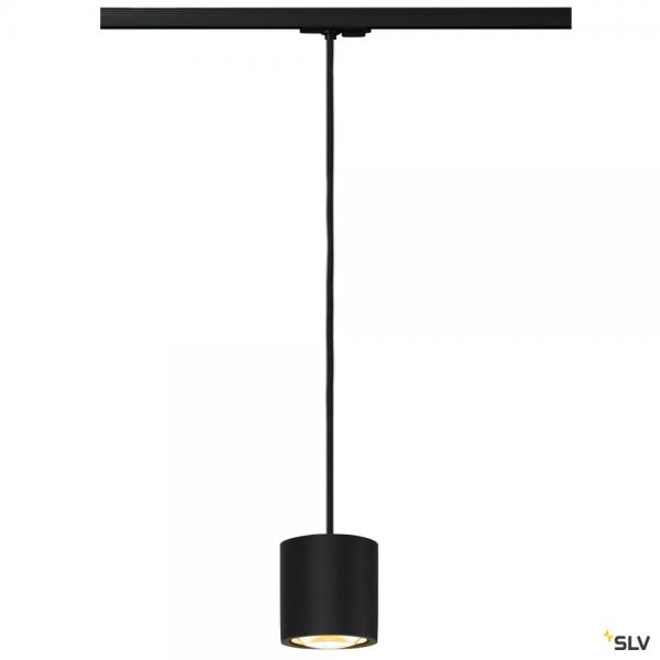 SLV 143120 + 1004672 Oculus, 1 Phasen, PL, schwarz, Dim to Warm, LED, 10,5W, 2000-3000K, 780lm