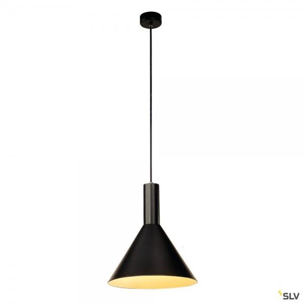 SLV 133310 Phelia, Pendelleuchte, schwarz/weiß, E27, max.23W
