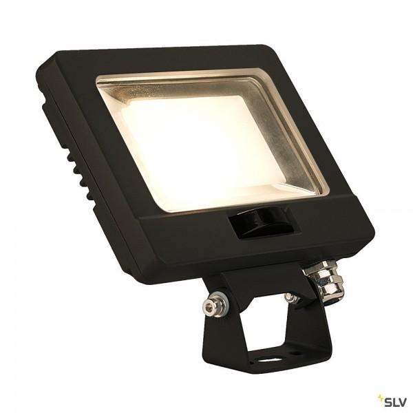 SLV 232860 Spoodi Sensor, Strahler, schwarz, mit Netzstecker, IP65, LED, 11W, 3000K, 800lm