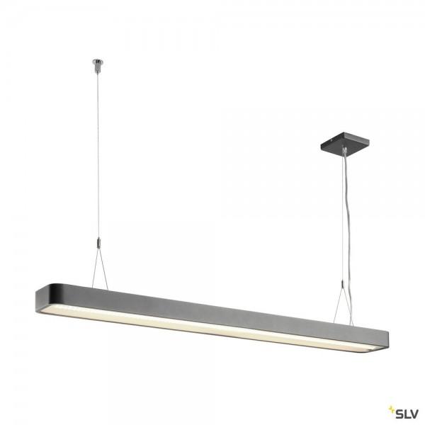 SLV 1003528 Worklight Plus, Pendelleuchte, anthrazit, dimmbar Switch, LED, 48W, 4000K, 5520lm