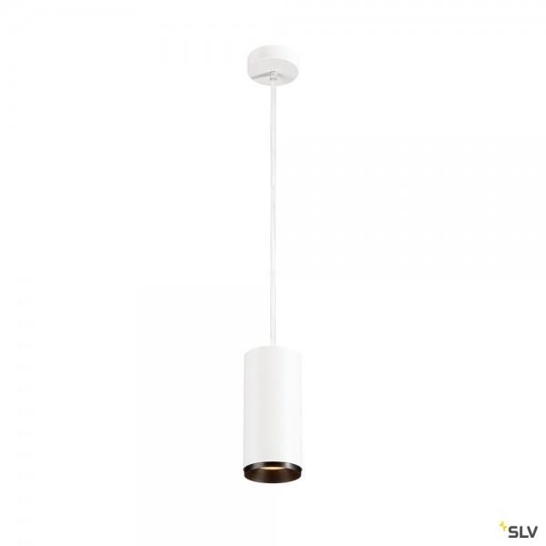 SLV 1004631 Numinos L, Pendelleuchte, weiß/schwarz, dimmbar Dali, LED, 28W, 2700K, 2400lm, 36°