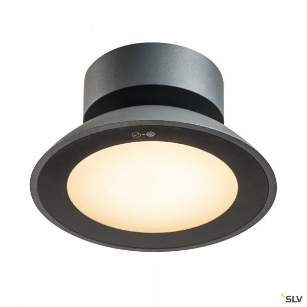 SLV 1002157 Malu, Deckenleuchte, anthrazit, IP44, LED, 9,2W, 3000K, 360lm