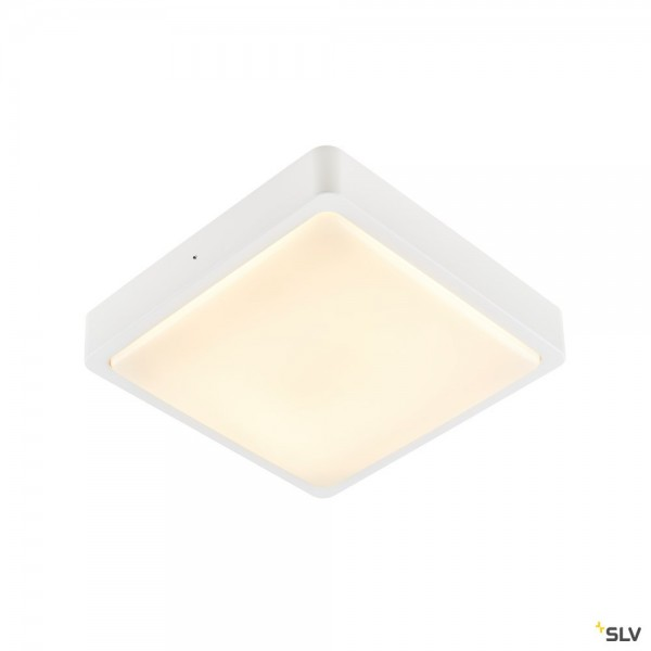 SLV 1003449 Ainos Square, weiß, IP65, LED, 17W, 3000K/4000K, 1300lm