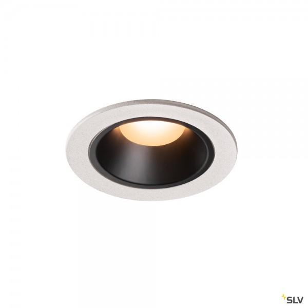 SLV 1003787 Numinos S, Deckeneinbauleuchte, weiß/schwarz, LED, 8,6W, 2700K, 670lm, 55°