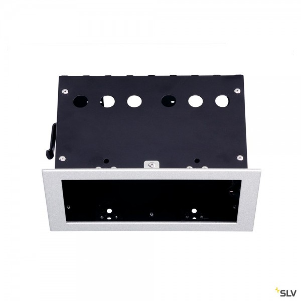 SLV 115314 Einbaurahmen 2 Frame, silbergrau, Aixlight Pro®