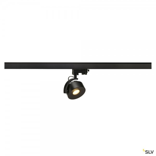 SLV 152600 Kalu Track, 3Phasen, Strahler, schwarz, dimmbar Triac C, LED, 13W, 3000K, 860lm