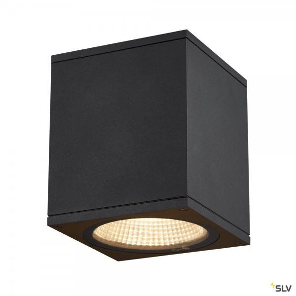 SLV 1003421 Enola Square M, Deckenleuchte, anthrazit, IP65, LED, 10W, 3000K/4000K, 800lm