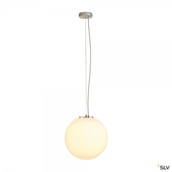 SLV 165410 Rotoball 40, Pendelleuchte, silbergrau/weiß, E27, max.24W