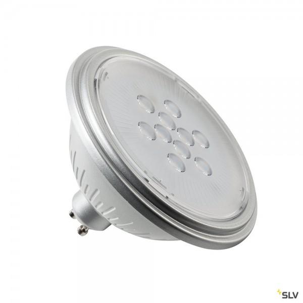 SLV 1001572 Leuchtmittel, silbergrau, QPAR111, GU10, LED, 7W, 3000K, 730lm, 40°