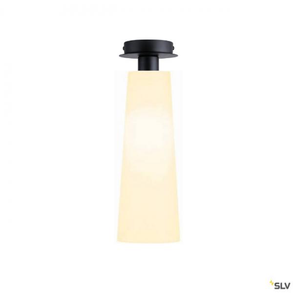 SLV 155550 + 156201 Fenda, Deckenleuchte, schwarz/weiß, Ø15cm, E27, max.60W