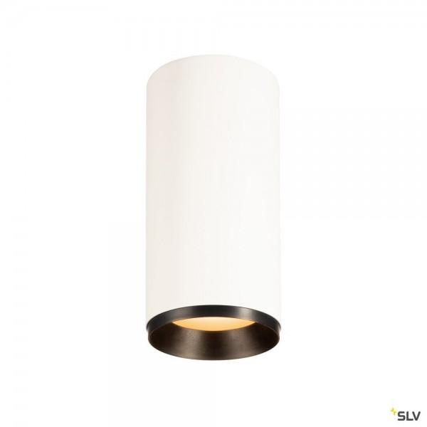 SLV 1004606 Numinos L, Deckenleuchte, weiß/schwarz, dimmbar Dali, LED, 28W, 2700K, 2440lm, 24°