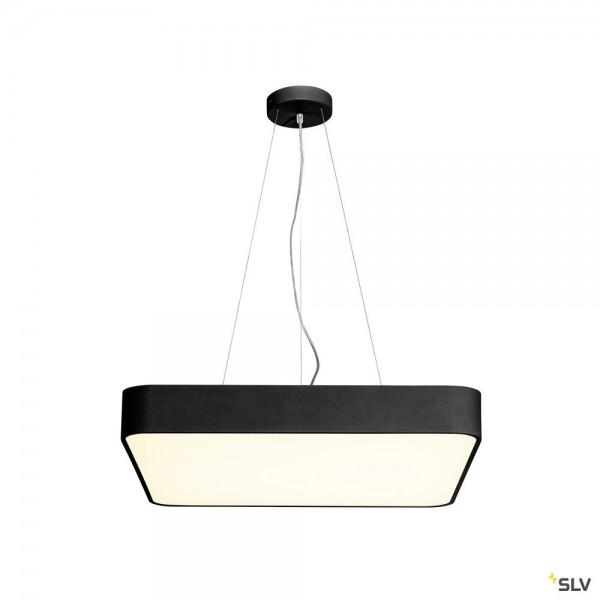 SLV 135250 + 1000725 Medo 60 Square, schwarz, dimmbar 1-10V, LED, 39W, 3000K, 3300lm