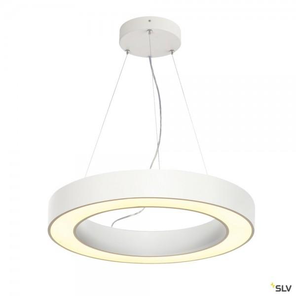 SLV 1002891 Medo Ring 60, Pendelleuchte, weiß, dimmbar Dali, LED, 34W, 3000K, 2095lm
