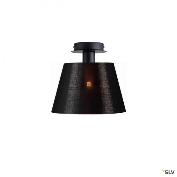 SLV 155550 + 156172 Fenda, Deckenleuchte, schwarz/kupfer, Ø30cm, E27, max.60W