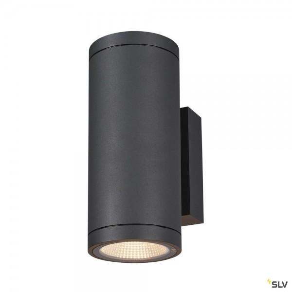 SLV 1003425 Enola Round M, Wandleuchte, anthrazit, up&down, IP65, LED, 19W, 3000K/4000K, 2520lm
