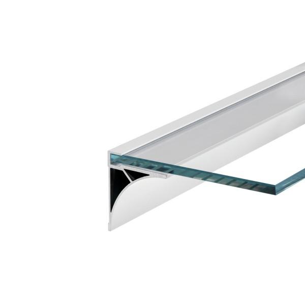 SLV 213541 Glenos, Regalprofil, weiß matt, B/H/L 6x6,9x100cm, LED Strips max.B.1cm