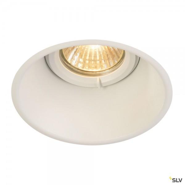 SLV 113161 Horn-O, Deckeneinbauleuchte, weiß matt, IP21, QPAR51, GU10, max.50W