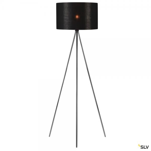SLV 155492 + 156122 Fenda, Stehleuchte, chrom/schwarz/kupfer, Ø45,5cm, E27, max.40W