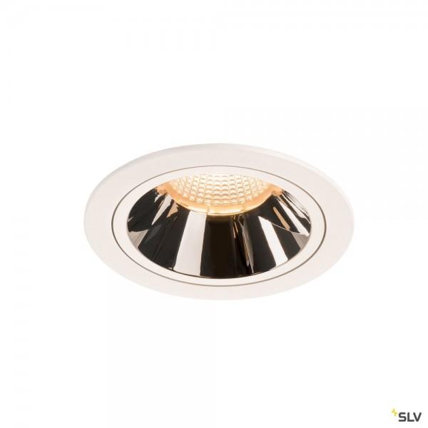 SLV 1003930 Numinos L, Deckeneinbauleuchte, weiß/chrom, LED, 25,41W, 2700K, 2150lm, 40°