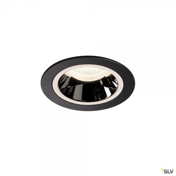 SLV 1003894 Numinos M, Deckeneinbauleuchte, schwarz/chrom, LED, 17,55W, 4000K, 1660lm, 40°