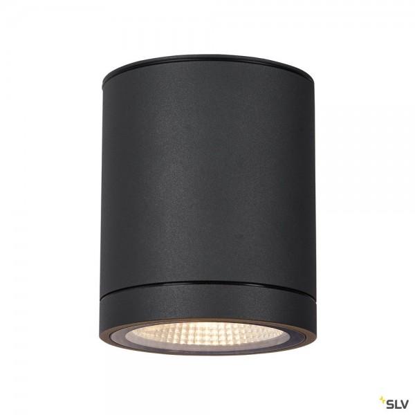 SLV 1003427 Enola Round M, Deckenleuchte, anthrazit, IP65, LED, 10W, 3000K/4000K, 800lm
