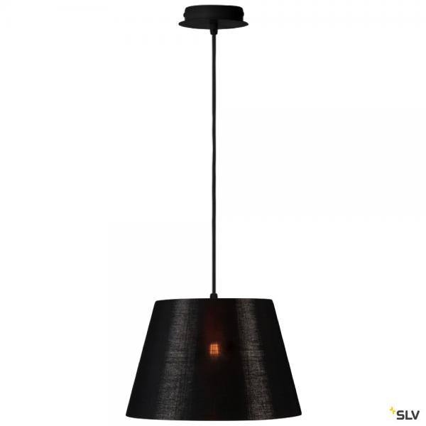 SLV 155560 + 156172 Fenda, Pendelleuchte, schwarz/kupfer, Ø30cm, E27, max.60W