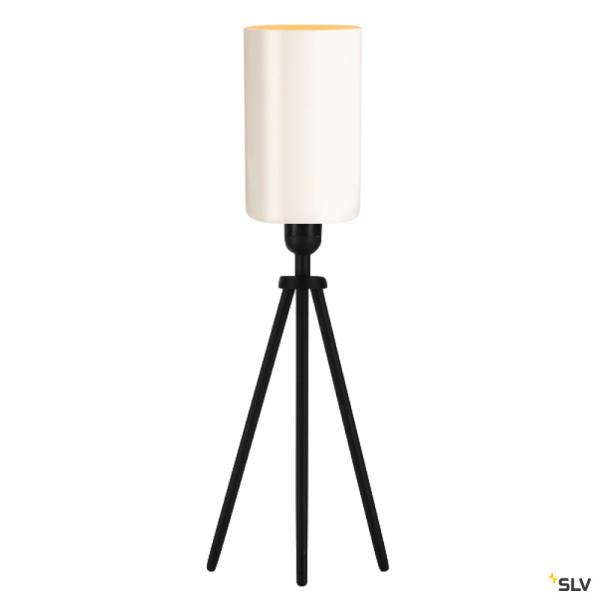 SLV 155540 + 1002217 Fenda, Tischleuchte, schwarz/weiß, Ø12,5cm, E27, max.40W