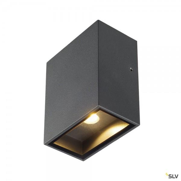 SLV 232435 Quad 1 XL, Wandleuchte, anthrazit, IP44, LED, 4,5W, 3000K, 260lm