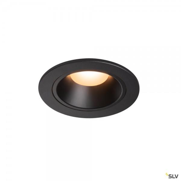 SLV 1003769 Numinos S, Deckeneinbauleuchte, schwarz, LED, 8,6W, 2700K, 670lm, 20°