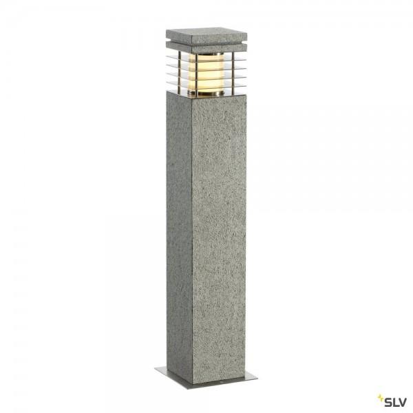 SLV 231411 Arrock Granite 70, Standleuchte, Edelstahl/Granit, salt&pepper, IP44, E27, max.15W